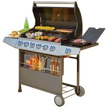 Premium 6 Burner Gas BBQ with Side Burner