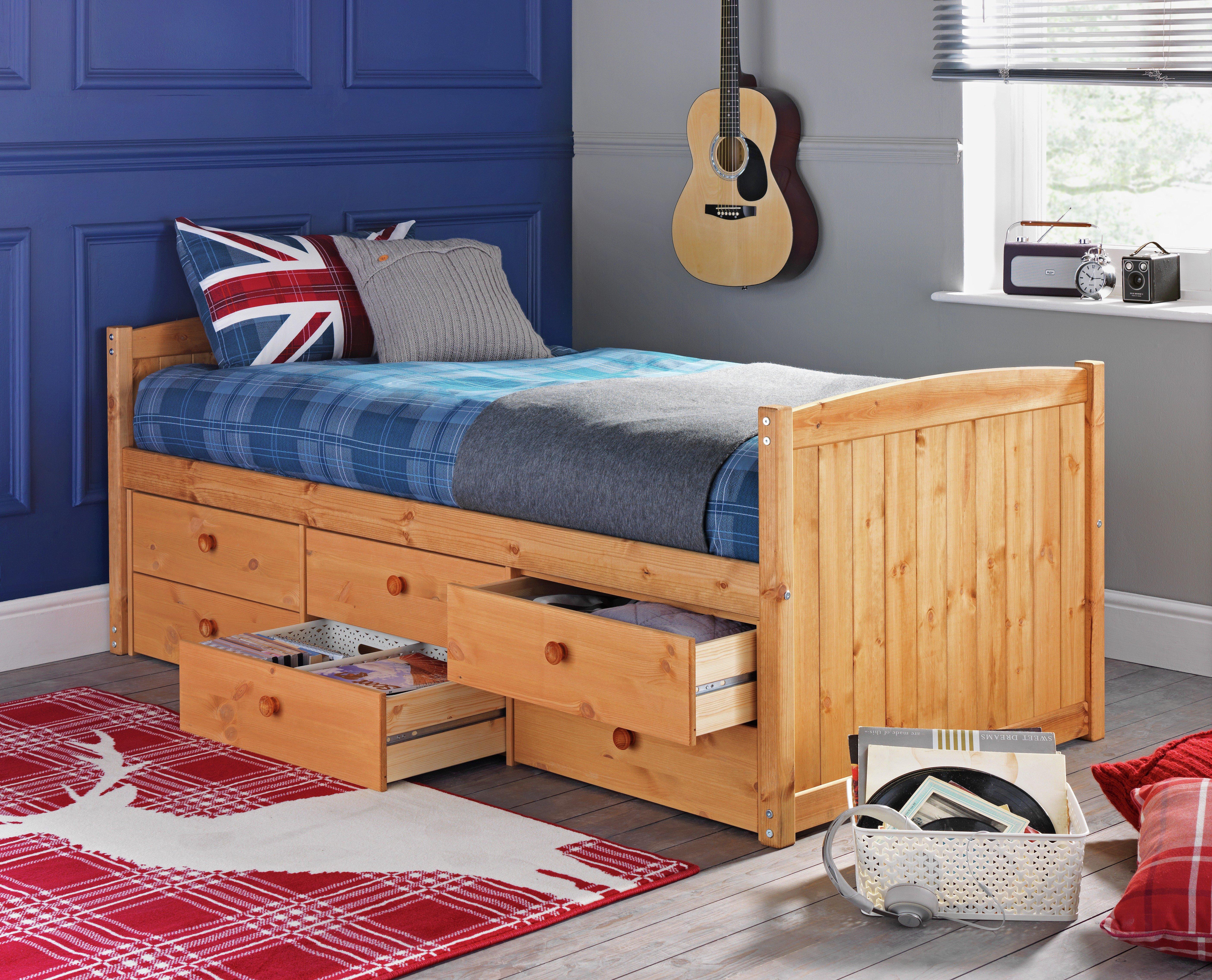 collection lennox 6 drw cabin bed u0026 kids mattress pine