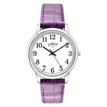 Limit Ladies' White Dial Purple Strap Watch