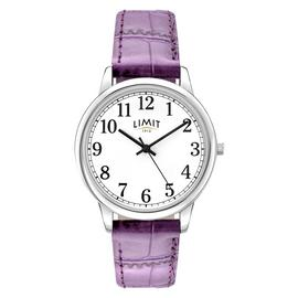 Limit Ladies' White Dial Purple Strap Watch