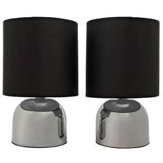 Argos Home Pair of Touch Table Lamps - Jet Black
