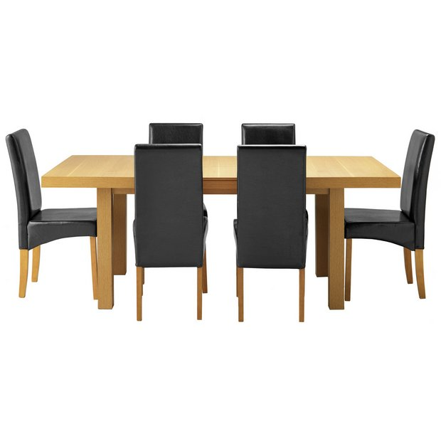 Buy Collection Cosgrove Dining Table 6 Chairs Oak Stain