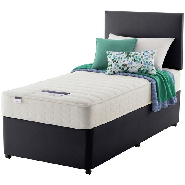 Buy silentnight northolt memory single divan bed at argos for Single divan beds with mattress and headboard