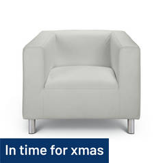 Argos Home Moda Leather Effect Chair - White