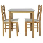 more details on HOME Lily Dining Table and 2 Matching Chairs - Two Tone.