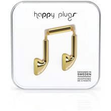 Happy Plugs Deluxe Mic and Remote In-Ear Headphones - Gold