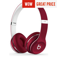 Beats Solo2 On-Ear Headphones Luxe Edition - Red