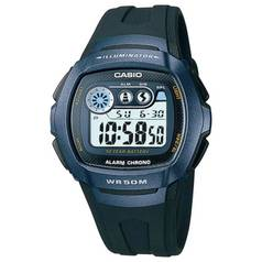 Casio Men's LCD Digital Blue Case Black Strap Watch