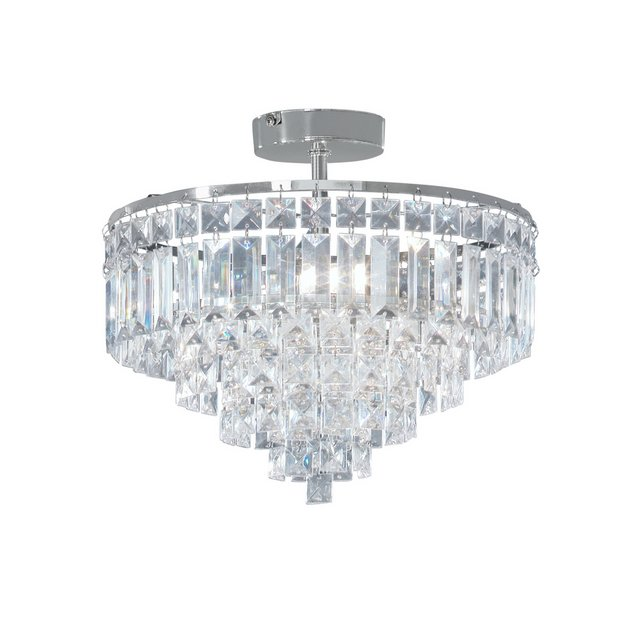 Argos Home Olivia 3 Light Ceiling Ing Clear Chrome Lights