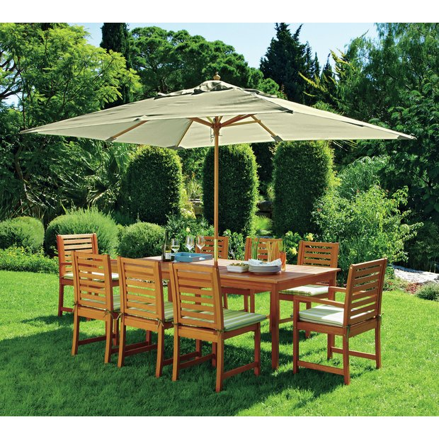 Buy Collection Madison 8 Seater Wooden Patio Set Green At Your Online Shop For