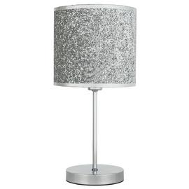 Argos Home Sparkling Table Lamp - Silver