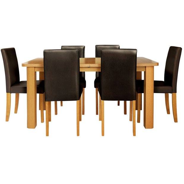 Buy Dining Table And Chairs Online: Buy HOME Heyford Extendable Dining Table & 6 Chairs