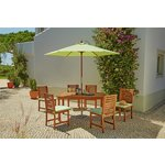 more details on Collection Madison 6 Seater Wooden Patio Set - Green.