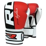 more details on RDX Leather Gel Boxing 14oz - Red
