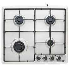 Bush BPGH60X Cast Iron Gas Hob - Stainless Steel