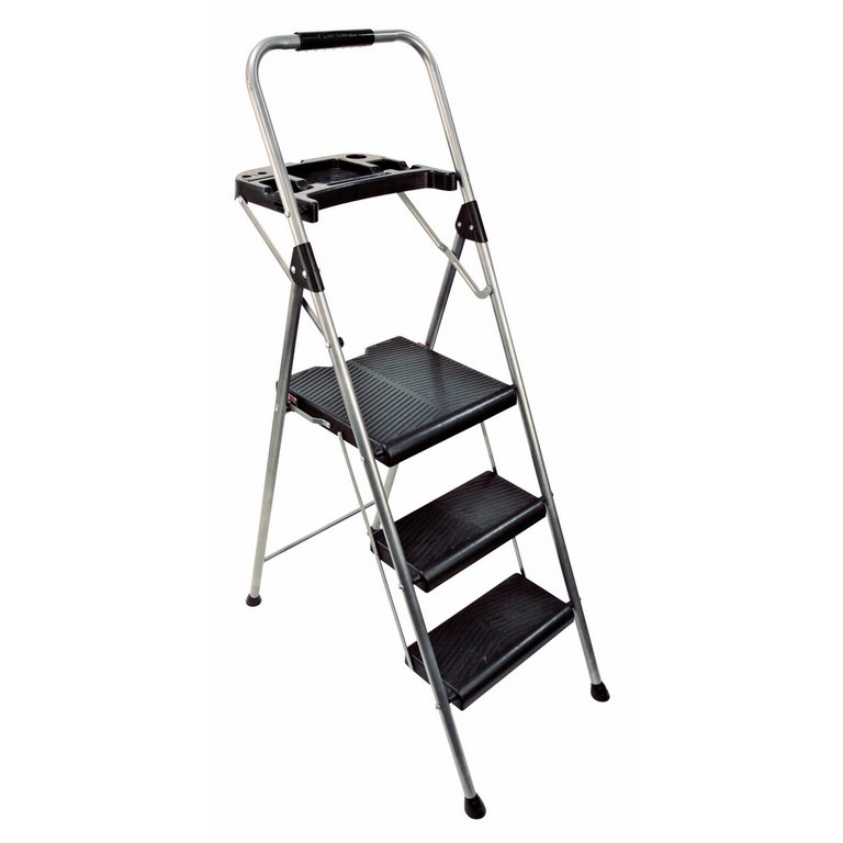 Buy Abru 3 Step Steel Ladder And Tool Tray 2 48m Max Swh