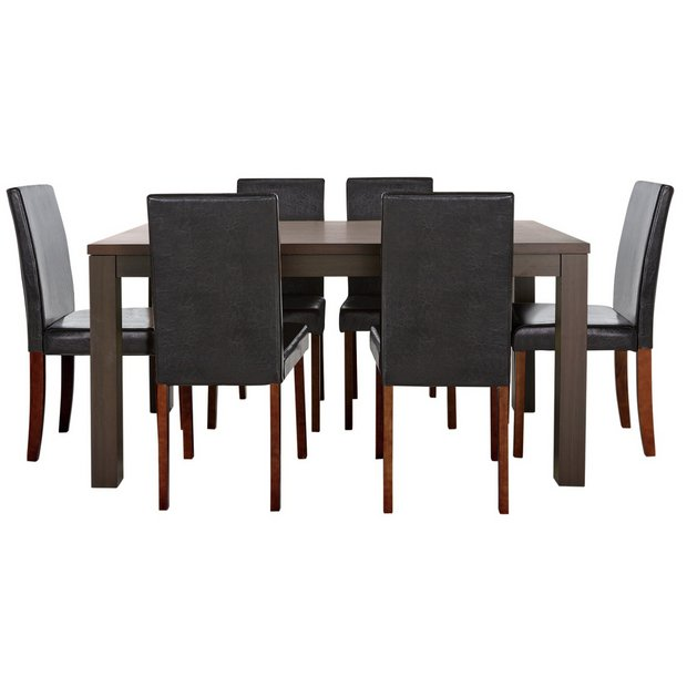 Buy Dining Room Furniture Online: Buy HOME Pemberton Walnut Veneer Dining Table & 6 Chairs