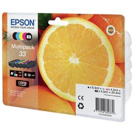 Epson 33 Oranges Ink Cartridges Black & Colour