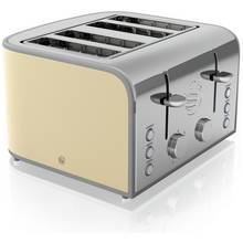 Swan 4 Slice Toaster - Cream