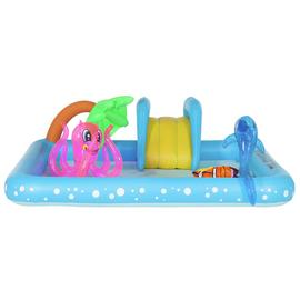 Chad Valley 8.5ft Aquarium Kids Paddling Pool - 308L
