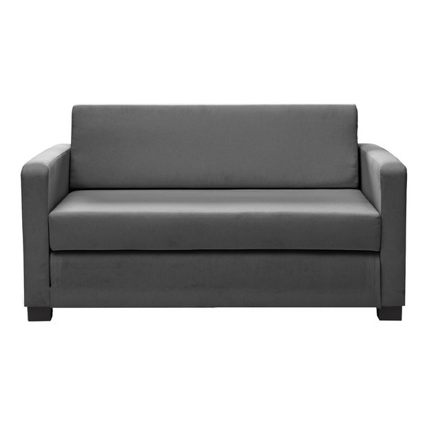 Buy Home Lucy 2 Seater Fabric Sofa Bed Grey At Your Online Shop For Sofa Beds