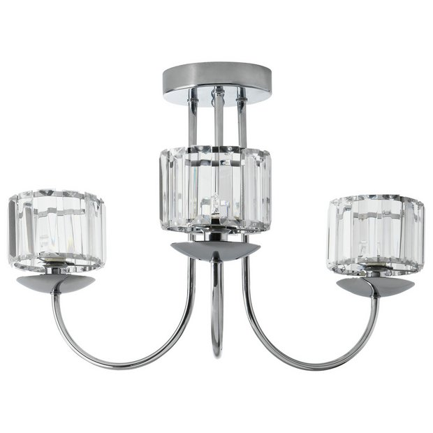 buy collection imogen 3 light ceiling fitting chrome at. Black Bedroom Furniture Sets. Home Design Ideas