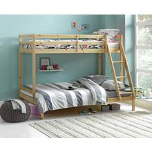 Argos Home Kaycie Triple Bunk Bed with Mattress - Pine