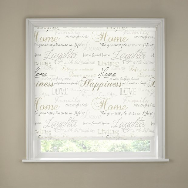 Buy 5ft Typography Roller Blind At Argos Co Uk Your