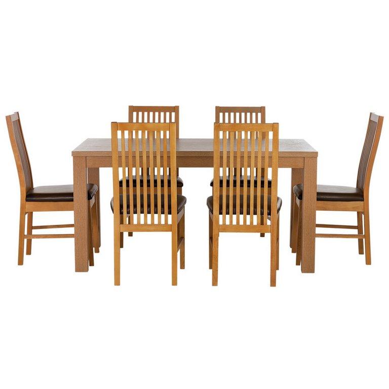Buy HOME Pemberton Oak Veneer Dining Table amp 6 Paris  : 4628433RSETMain768ampw620amph620 from www.argos.co.uk size 620 x 620 jpeg 33kB