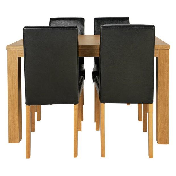 Buy home pemberton oak veneer dining table chairs
