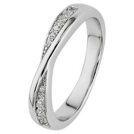 Revere Sterling Silver Crossover Half Eternity Ring