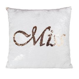 Miss to Mrs Sequin Cushion