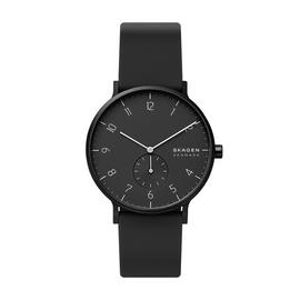 Skagen Aaren Kulor Black Silicone Strap Watch