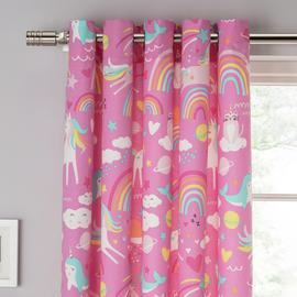 Argos Home Unicorn Lined Eyelet Curtains
