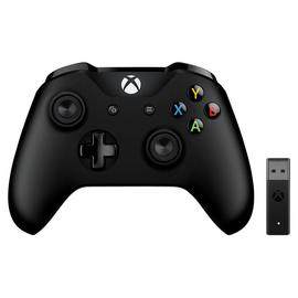 Xbox Controller with Wireless Adaptor - Black