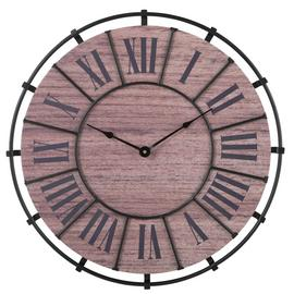 Argos Home Loft Wooden Wall Clock