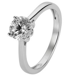 Revere Sterling Silver 6mm Round Cubic Zirconia Ring