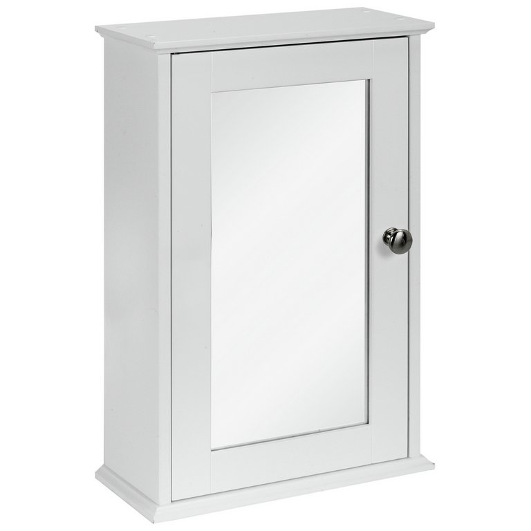 argos white bathroom cabinet buy simple value 1 door mirror cabinet white at 10738