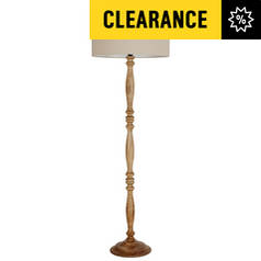 Floor lamps floor lights standing lamps argos page 4 argos home flitwick wooden spindle floor lamp natural aloadofball Choice Image