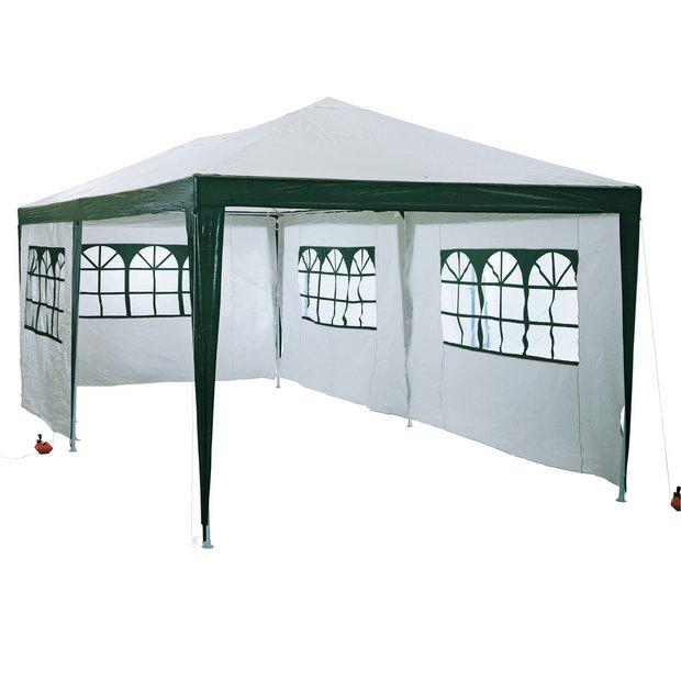 store 3m x 6m garden gazebo tent marquee outdoor. Black Bedroom Furniture Sets. Home Design Ideas