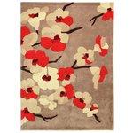 more details on Floral Blossom Rug - 160x230cm - Red.