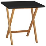 more details on Habitat Drew 2 Seater Folding Dining Table - Black.