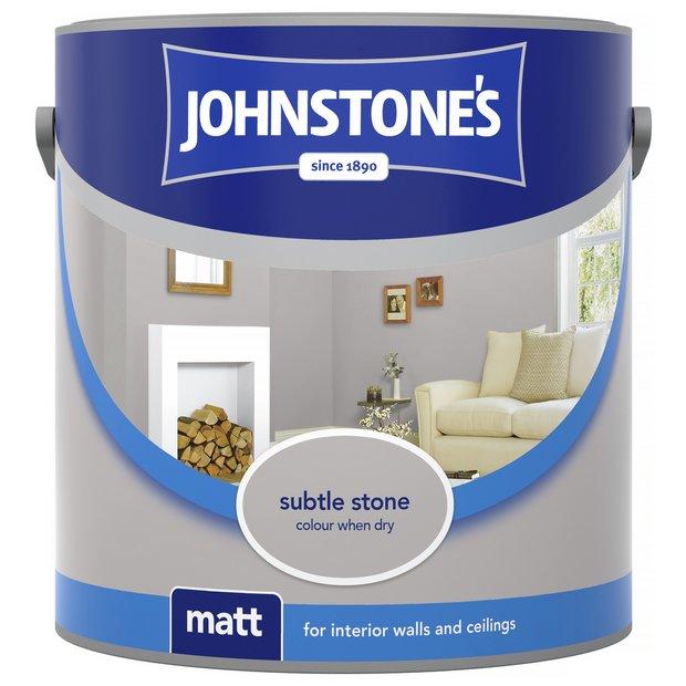 Buy johnstone 39 s matt emulsion paint 2 5l subtle stone at your online shop for - Johnstones exterior masonry paint set ...