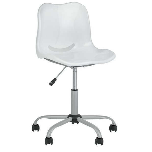 Buy home delta height adjustable office chair white at your online shop for Argos home office furniture uk