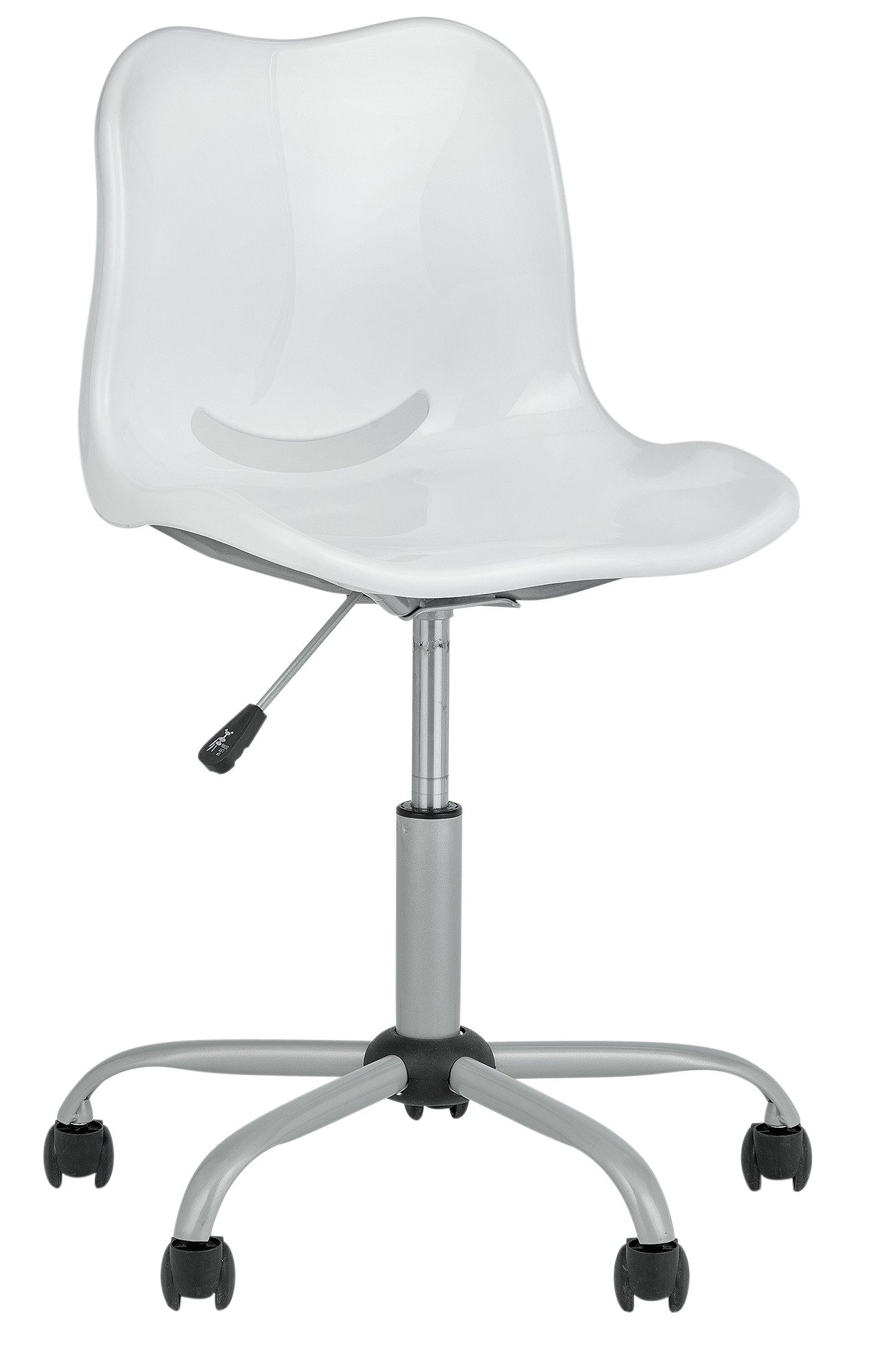 more details on home delta height adjustable office chair white - White Armless Office Chair