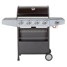 Premium 4 Burner Gas BBQ with Side Burner - Home Delivery