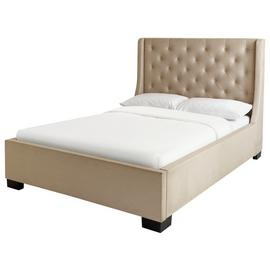 Argos Home Levena Kingsize Quilted Bed Frame - Natural