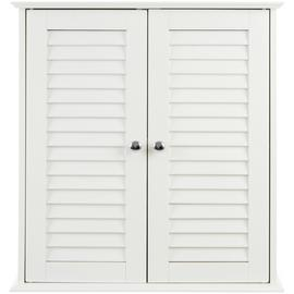 Premier Housewares Wooden Wall Cabinet - White.