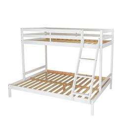 Argos Home Kaycie White Triple Bunk Bed & 2 Kids Mattresses