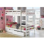more details on HOME Josie Bunk Bed with Drawers and Elliott Mattress-White.